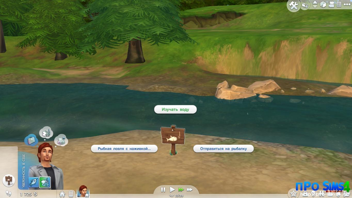 the sims 4 по образу уловлять рыбу